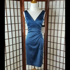 DONNA RICCO Midnight blue Sheath dress
